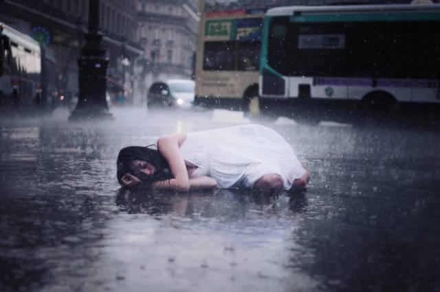 Victor Habchy-Auriane sous la pluie 2011